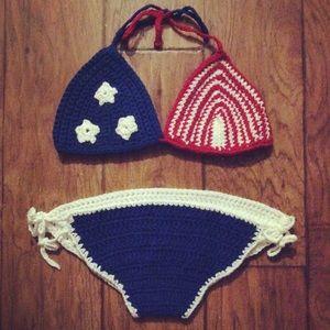 M-A Shorna Josephs Stars & Stripes Crochet Bikini